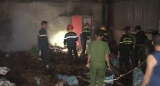 Cháy cơ sở sản suất đũa và thớt gỗ tư nhân Nguyễn Văn Sang